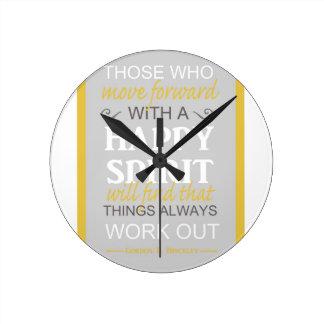 inspirational gordon b hinckley lds quote round clock