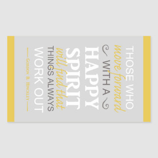 inspirational gordon b hinckley lds quote rectangle sticker