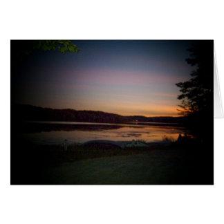 Inspirational Greeting Card-Sunset Lake Design Card