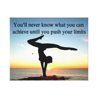 INSPIRATIONAL GYMNASTICS QUOTE DESIGN CANVAS PRINT