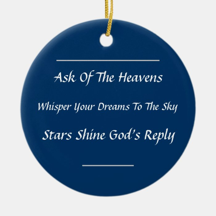 Inspirational Haiku Ornament
