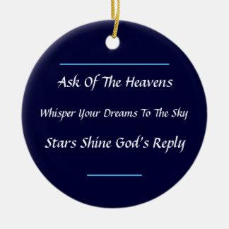 Inspirational Haiku Ornament (Dark Blue)