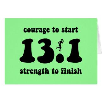 Inspirational half marathon greeting card