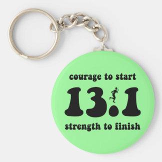 Inspirational half marathon keychain