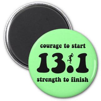 Inspirational half marathon magnet