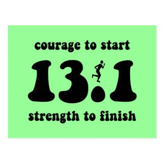 Inspirational half marathon postcard