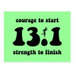 Inspirational half marathon postcards