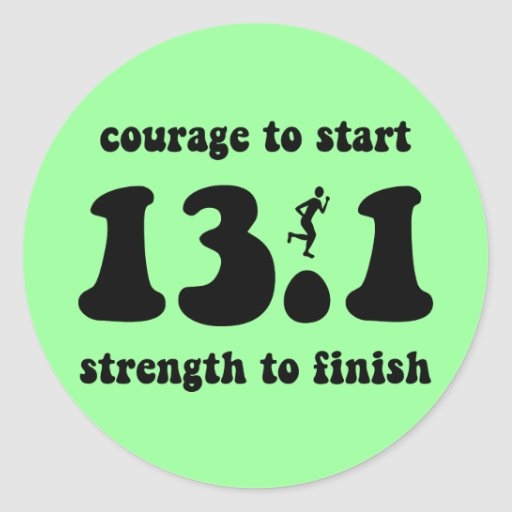 Inspirational half marathon sticker