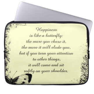 Inspirational Happiness Quote Laptop Computer Sleeve