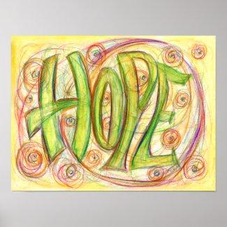 Inspirational Heal Word Art Poster