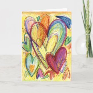 Inspirational Healing Hearts Card