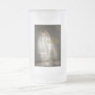 Inspirational - Heavenly Father - Senrenity Prayer Frosted Glass Beer Mug