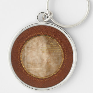Inspirational - Heavenly Father - Senrenity Prayer Silver-Colored Round Keychain