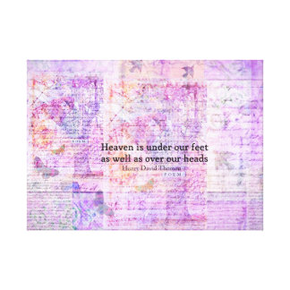 Inspirational Henry David Thoreau quote HEAVEN Gallery Wrapped Canvas
