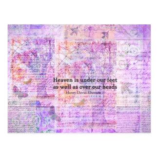 Inspirational Henry David Thoreau quote HEAVEN Postcard