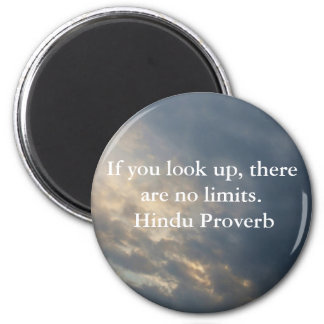 inspirational Hindu Proverb from India 2 Inch Round Magnet