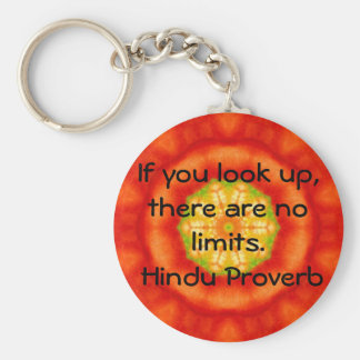 inspirational Hindu Proverb from India Basic Round Button Keychain