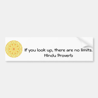 inspirational Hindu Proverb from India Car Bumper Sticker