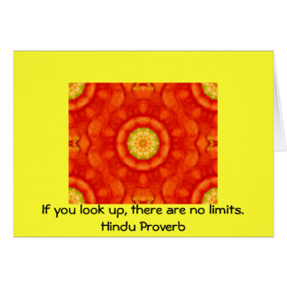 inspirational Hindu Proverb from India Greeting Card