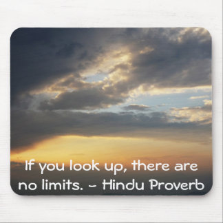 inspirational Hindu Proverb from India Mouse Pad