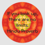 inspirational Hindu Proverb from India Stickers