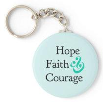 Inspirational- Hope, Faith &  Courage Keychain