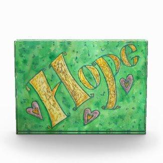 Inspirational Hope Word Art Custom Paperweights Acrylic Award