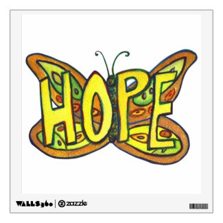 Inspirational Hope Word Butterfly Wall decal