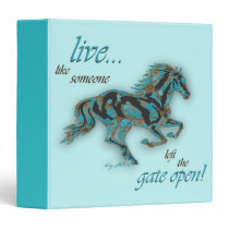 Inspirational Horse 3 Ring Binder