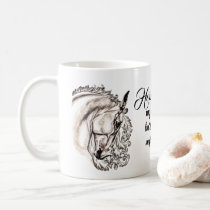 inspirational horse coffee mug