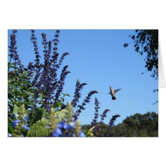 Inspirational Hummingbird card