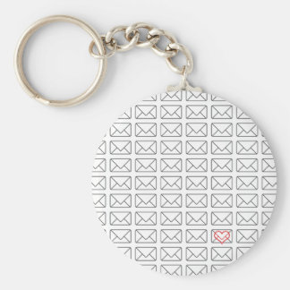 Inspirational I Love you note Basic Round Button Keychain