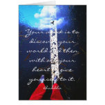 Inspirational image with Buddha quote Card