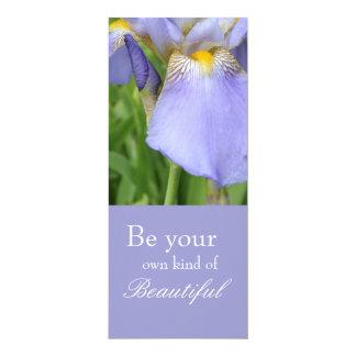 Inspirational Iris Bookmark 4x9.25 Paper Invitation Card