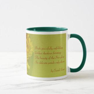 Inspirational iris inner beauty warm yellow mug