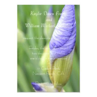Inspirational Iris Wedding Card