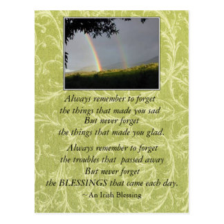 Inspirational Irish Blessing Always Remember Postcard