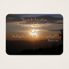 Inspirational - Isaiah 41;10 - Chubby B. Card at Zazzle