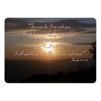 Inspirational - Isaiah 41;10 - Chubby B. Card Large Business Cards (Pack Of 100)