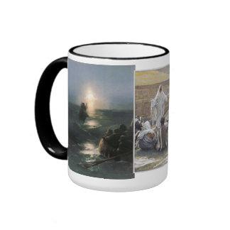 Inspirational Jesus Bible Faith Hope Love Ringer Mug