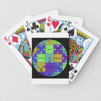 INSPIRATIONAL JIGSAW PUZZLE QUOTE BICYCLE PLAYING CARDS
