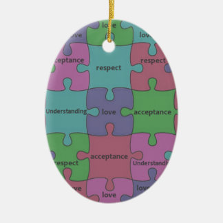 INSPIRATIONAL JIGSAW PUZZLE QUOTE CERAMIC ORNAMENT