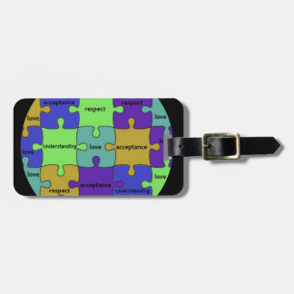 INSPIRATIONAL JIGSAW PUZZLE QUOTE LUGGAGE TAG