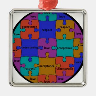 INSPIRATIONAL JIGSAW PUZZLE QUOTE METAL ORNAMENT