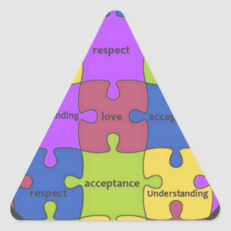 INSPIRATIONAL JIGSAW PUZZLE QUOTE TRIANGLE STICKERS