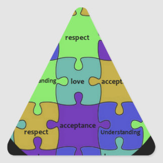 INSPIRATIONAL JIGSAW PUZZLE QUOTE TRIANGLE STICKER
