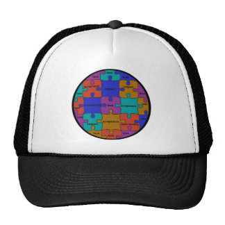INSPIRATIONAL JIGSAW PUZZLE QUOTE TRUCKER HAT