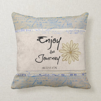Inspirational Journey Quote Throw Pillow