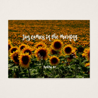 Inspirational Joy Bible Verse Business Card