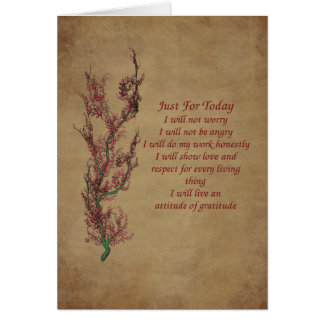 Inspirational Just For Today Quote Card